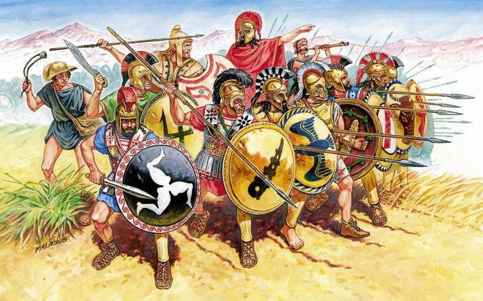 Шлем с гребнем - один из символом античности. |Фото: setwalls.ru.